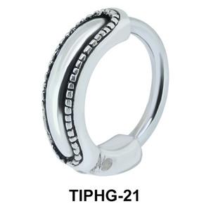 Belt Shaped Upper Ear Design Rings TIPHG-21