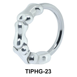 Bones Shaped Upper Ear Design Rings TIPHG-23