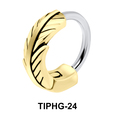 Feather Shaped Upper Ear Design Rings TIPHG-24