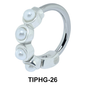 Pearl Shaped Upper Ear Design Rings TIPHG-26