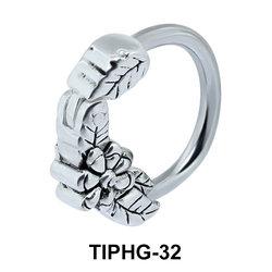 Leafy Design Upper Ear Piercing Ring TIPHG-32