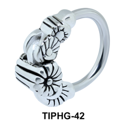 Floral Upper Ear Piercing Ring TIPHG-42