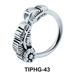 Natural Design Upper Ear Piercing Ring TIPHG-43