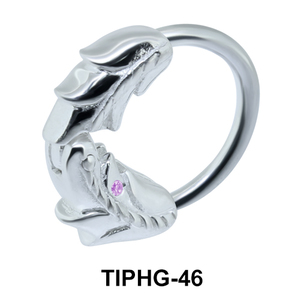 Leafy Upper Ear Piercing Ring TIPHG-46