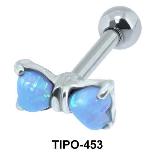 Blue Bow Helix Ear Piercing Romantic Line TIPO-453