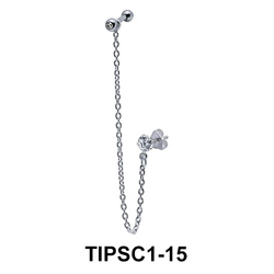 Simple Ear Chain Piercing TIPSC1-15