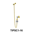 Pearl on Ear Chain Piercing TIPSC1-16