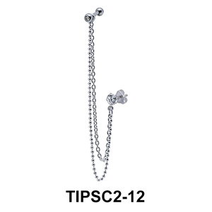 Ear Piercing with Stud Chains TIPSC2-12