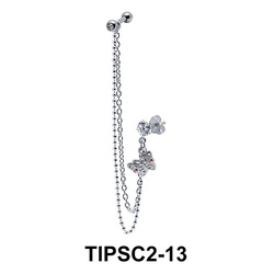Ear Piercing with Stud Chains TIPSC2-13