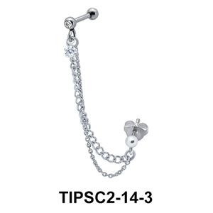 Butterfly Ear Chain Piercing TIPSC2-14-3