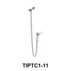 CZ Stone Tragus Piercing Chain TIPTC1-11