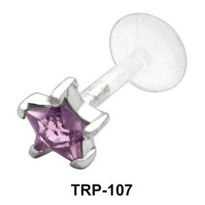 Star CZ Tragus Piercing TRP-107