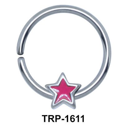 Pink Star Closure Ring Charms TRP-1611