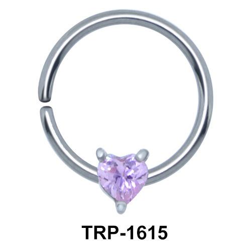 Purple Stone Heart Closure Ring Charms TRP-1615