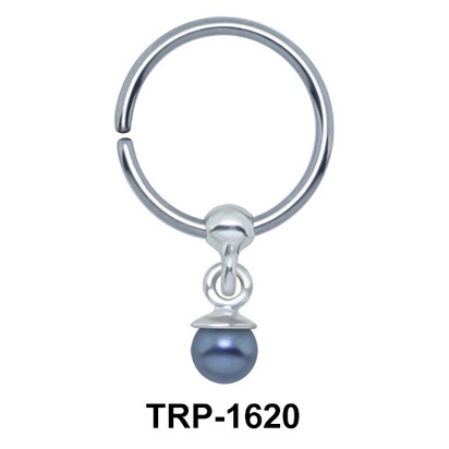 Black Pearl Closure Ring Charms TRP-1620