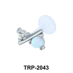 Opal Tragus Piercing TRP-2043