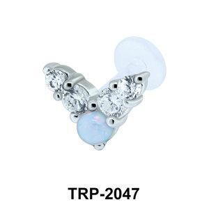 Opal Tragus Piercing TRP-2047