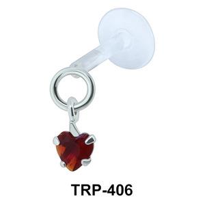 CZ Heart Tragus Piercing TRP-406