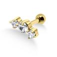 Triple Stones Helix Ear Piercing TIP-252s