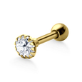 Prong Set Round Stone Helix Piercing TIP-610