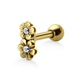 Stone Set Flowers Shaped Helix Piercings TIP-673