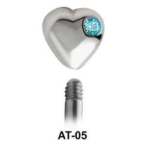 Heart Shaped 1.2 Piercing Attachment AT-05