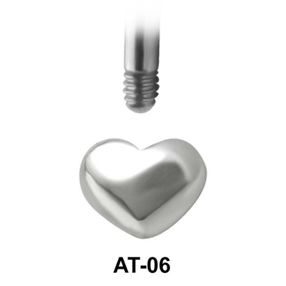 Heart Shaped 1.2 Piercing Attachment AT-06