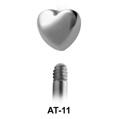 Heart Shaped 1.2 Piercing Attachment AT-11