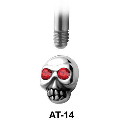 Skull Shaped 1.2 Attachments Face Piercing AT-14