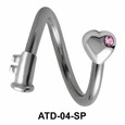 Heart Key Multi Face Piercing ATD-04