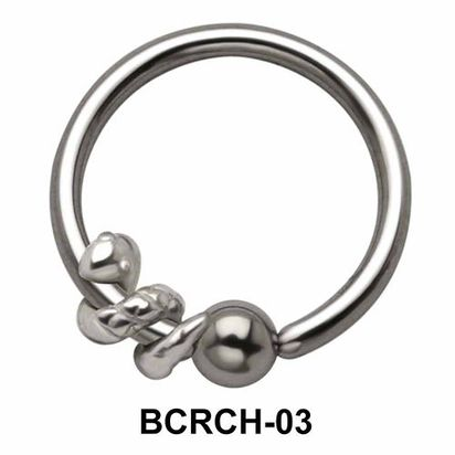 Snake Closure Rings Charms BCRCH-03