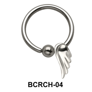 Wings Closure Rings Charms BCRCH-04