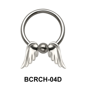 Double Wings Closure Rings Charms BCRCH-04D