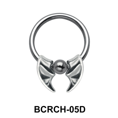Double Blade Closure Rings Charms BCRCH-05D