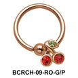 Cherry Closure Rings Charms BCRCH-09