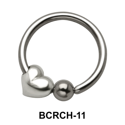 Heart Closure Rings Charms BCRCH-11