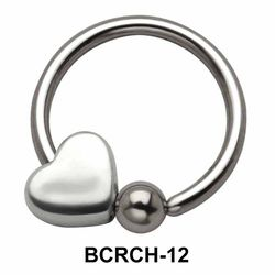 Heart Closure Rings Charms BCRCH-12