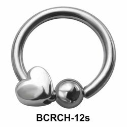 Heart Closure Rings Charms BCRCH-12s