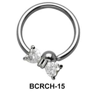 CZ Bow Closure Rings Charms BCRCH-15