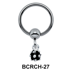 Solid Boulder Closure Ring Charms BCRCH-27