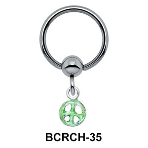 Peace Sign Closure Rings Charm BCRCH-35