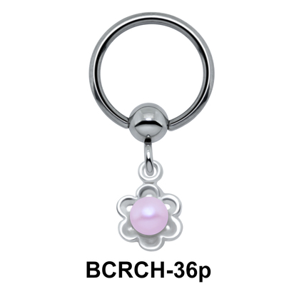 Glowing Pearl On Closure Ring BCRCH-36p