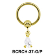 Pear Shaped CZ Closure Rings Charm BCRCH-37