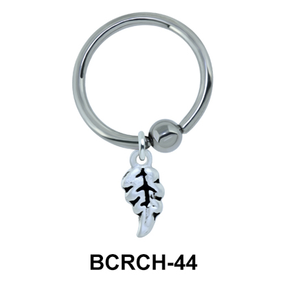 Leaf Closure Rings Charms BCRCH-44