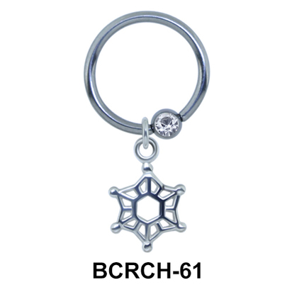 Cobweb Closure Rings Charms  BCRCH-61