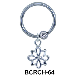 Flower Closure Rings Charms BCRCH-64