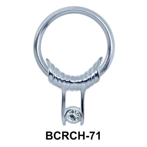 The Eye Closure Rings Charms BCRCH-71