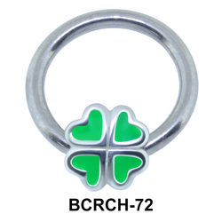 4 Leaf Closure Rings Charms BCRCH-72
