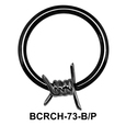 Barbed Wire Closure Rings Charms BCRCH-73