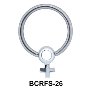 Plus Sized Charm Closure Ring BCRFS-26